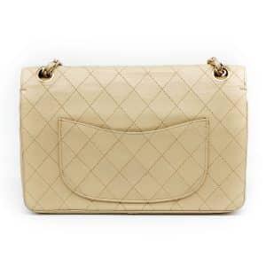 Chanel Vintage Medium Classic Double Flap Beige Lambskin 24K GHW
