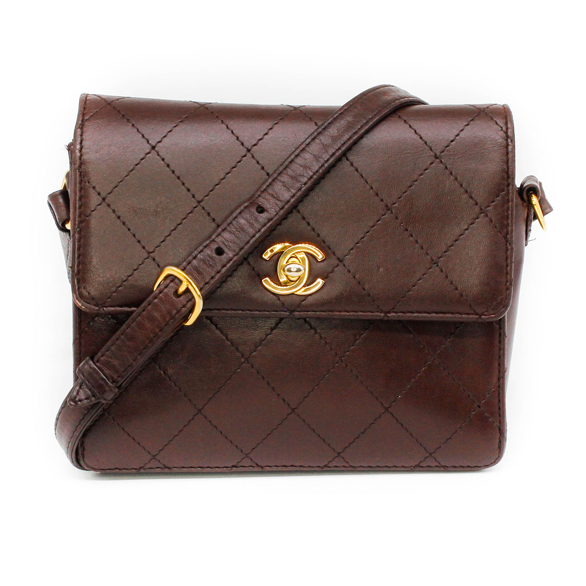 chanel brown quilted box crossbody bag