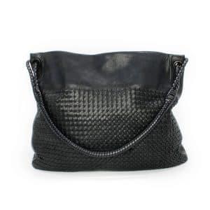 Bottega Veneta Intrecciato Black Tote Shoulder Bag