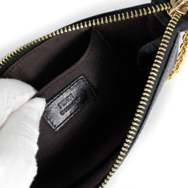 fendi leather tag inside wristlet