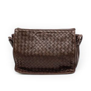 Bottega Veneta Intrecciato Brown Shoulder Bag