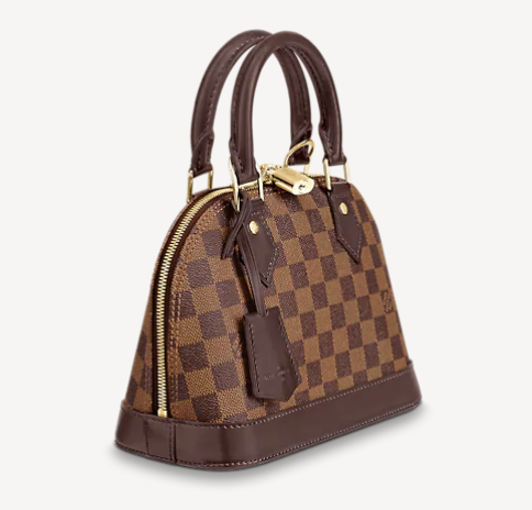 small checkered brown bag from LV half moon style