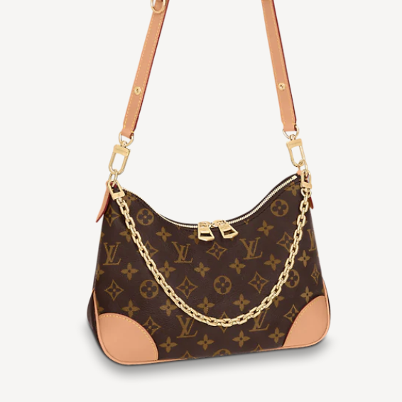 BOULOGNE louis vuitton natural crossbody with chain