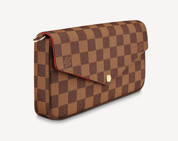 small checkered clutch bag
