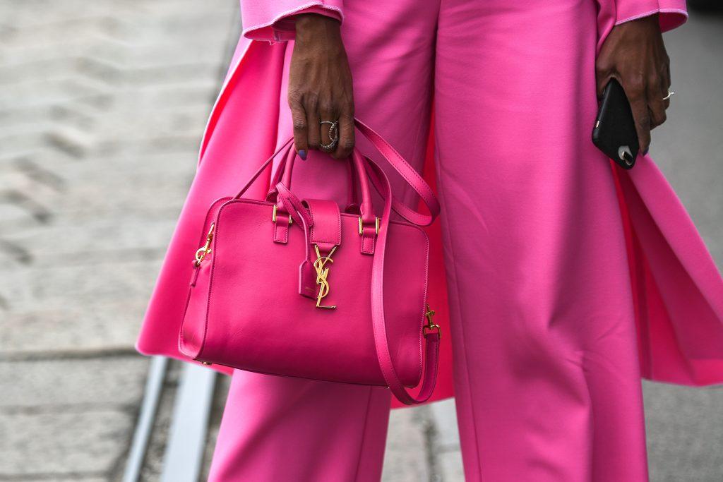 pink ysl handbag top handle saint laurent