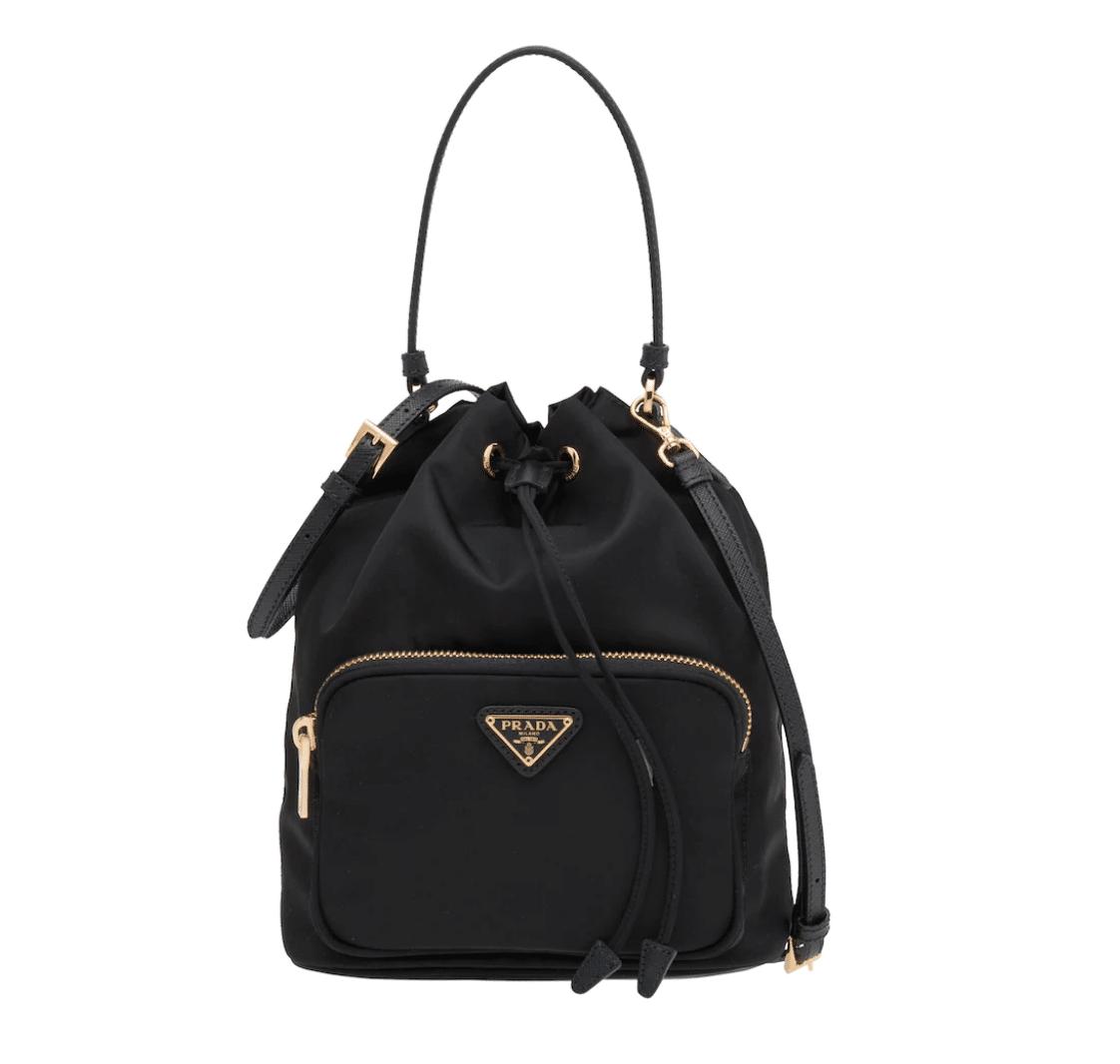 prada black small nylon backpack