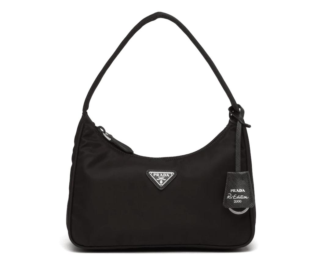 prada reedition black nylon shoulder bag