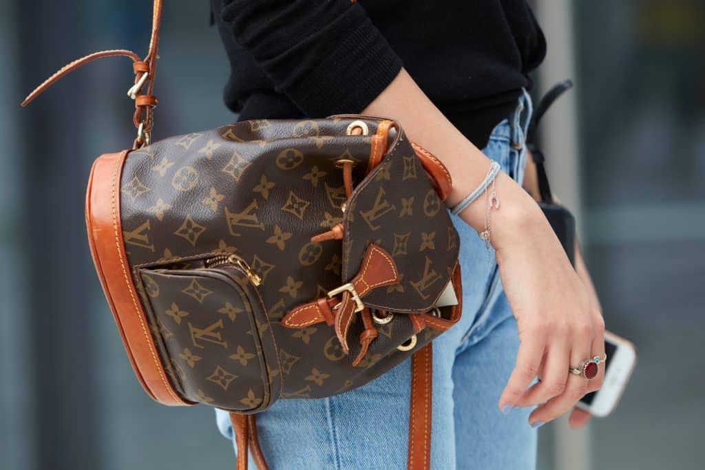 louis vuitton vachetta leather backpack vintage