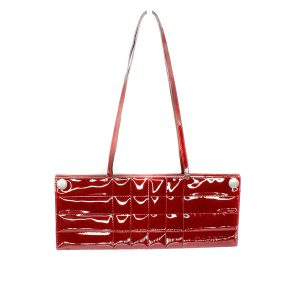 Chanel Bordeaux Patent Leather Chocolate Bar Clutch