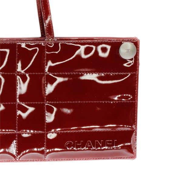 chocolate bar clutch in red