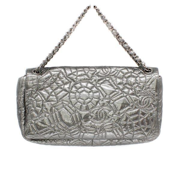 silver luxury bag