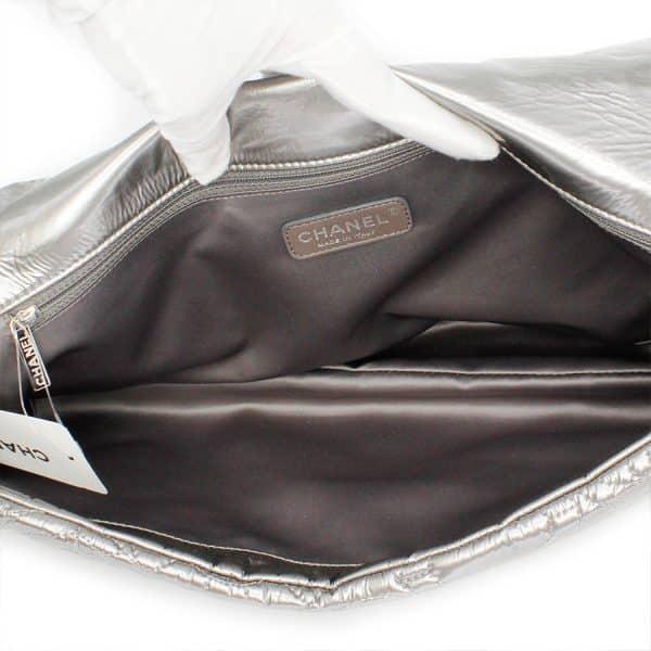 inside of chanel silver bag