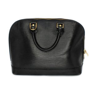Louis Vuitton Alma Black Epi Leather Handbag