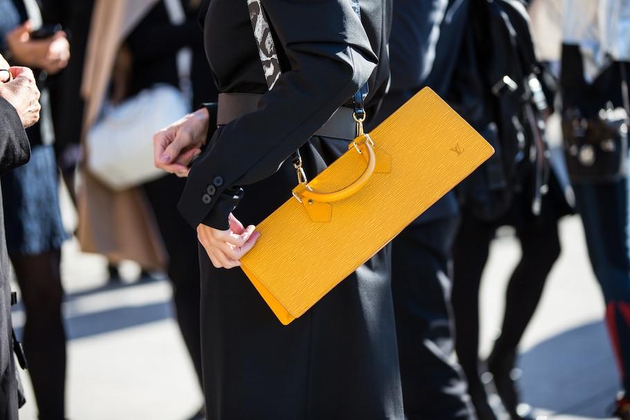 louis vuitton yellow epi leather clutch bag