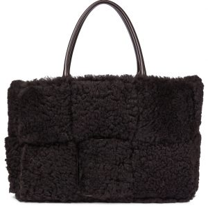 Arco shearling tote