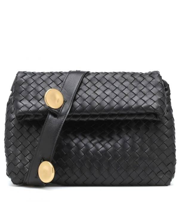 BV Fold Small leather crossbody bag