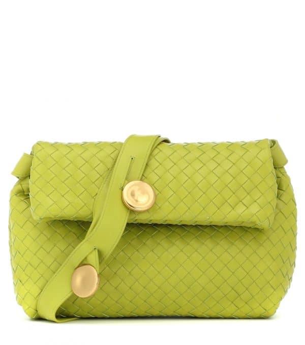 BV Fold leather shoulder bag