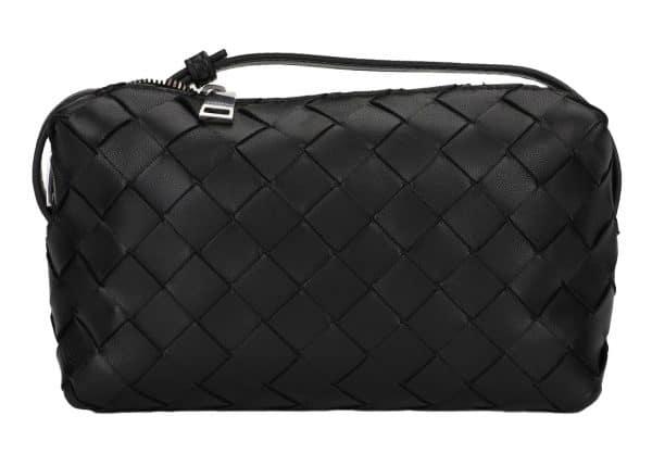 Bottega Veneta Intrecciato Crossbody Bag Silver-tone Black