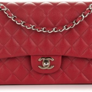 Chanel Classic Double Flap Quilted Medium Red
