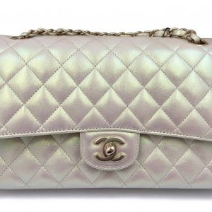 Chanel Classic Handbag Iridescent Ivory