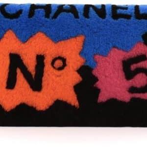 Chanel No 5 Comic Plush Clutch Black/Multicolor