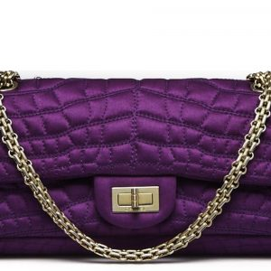 Chanel Reissue 2.55 East West Flap Quilted Purple