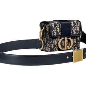 Dior 30 Montaigne Box Bag Oblique Jacquard Blue