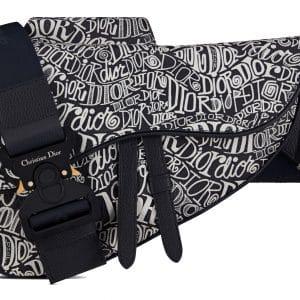 Dior And Shawn Saddle Bag Motif Navy Blue