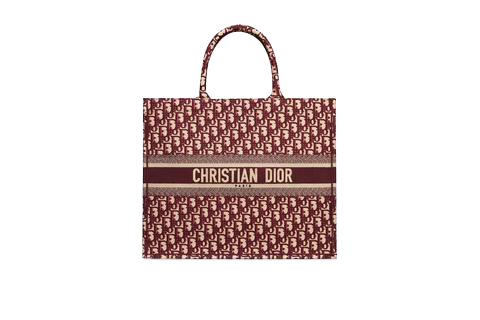 Dior Book Tote Oblique Burgundy
