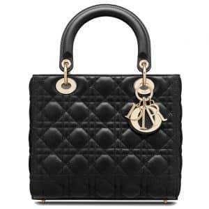 Dior Lady Dior Bag Cannage Lambskin Medium Black