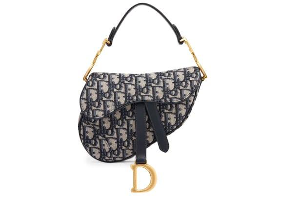 Dior Oblique Saddle Bag Mini Blue