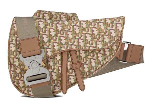 Dior Saddle Bag Oblique Jacquard Multicolor