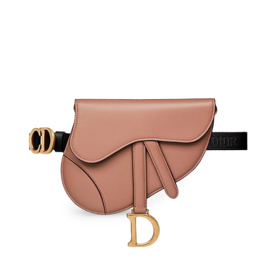 Dior Saddle Belt Bag Calfskin Blush