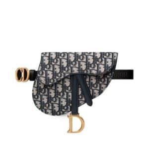 Dior Saddle Belt Bag Oblique Blue
