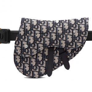 Dior Saddle Belt Bag Oblique Jacquard Beige/Black