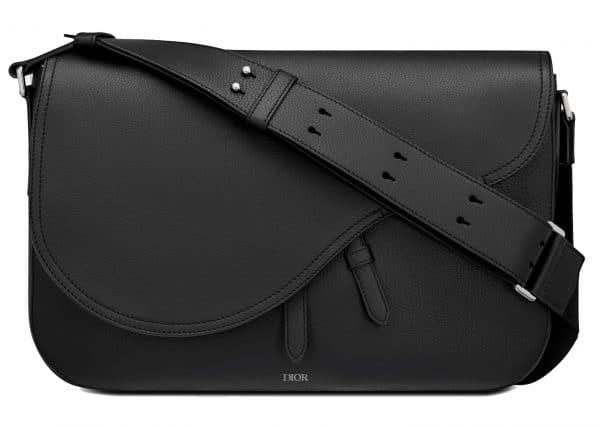 Dior Saddle Messenger Bag Grained Calfskin Black