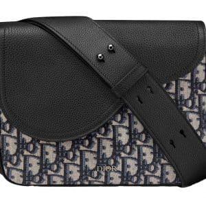 Dior Saddle Messenger Bag Mini Oblique Jacquard Black