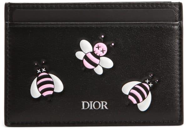 Dior x Kaws Card Holder Pink Bees Black