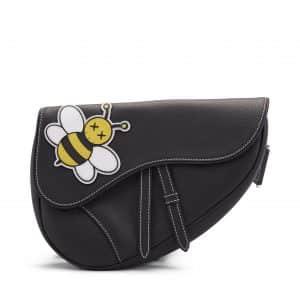 Dior x Kaws Saddle Bag Black