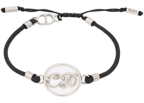 Dior x Kenny Scharf Bracelet Silver and Black Calfskin