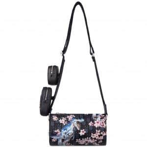 Dior x Sorayama Messenger Bag Plugs In Oblique Safari Nylon Blue