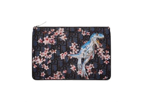 Dior x Sorayama Pouch Oblique Safari Nylon Blue