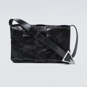 Intrecciato Paper Cassette leather bag