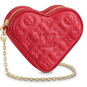Louis Vuitton Heart on Chain Monogram Red Lambskin