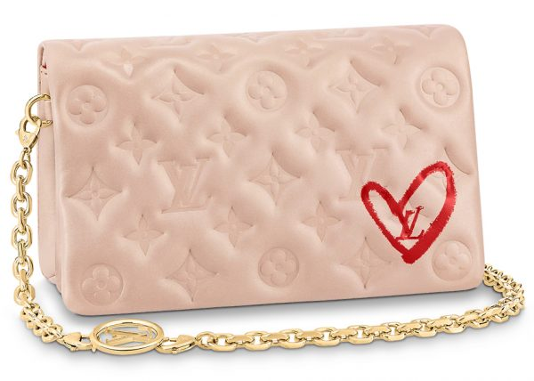Louis Vuitton Limited Edition Pochette Coussin Monogram Pink Lambskin