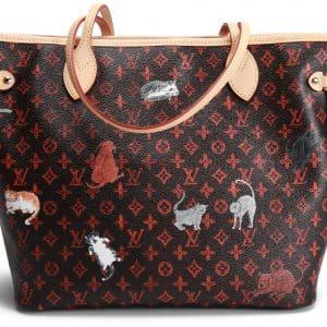 Louis Vuitton x Grace Coddington Neverfull Catogram (Without Pouch) MM Orange Lining