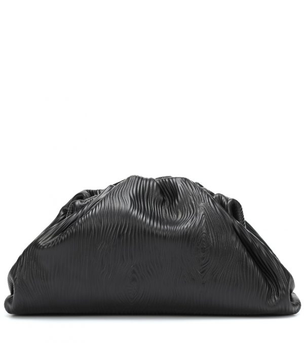 Pouch embossed leather clutch