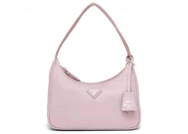 Prada Re-Edition 2000 Re-Nylon Mini Bag Alabaster Pink