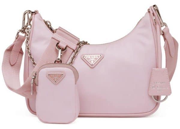 Prada Re-Edition 2005 Re-Nylon Bag Alabaster Pink