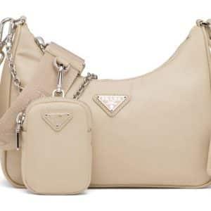 Prada Re-Edition 2005 Re-Nylon Bag Desert Beige
